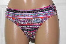 NEW Lucky Brand Bohemian Delight Tab Side Hipster Bikini Bottom size L Large