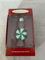 Hallmark Keepsake 2000 Lil Swirl Green Hand Blown Glass Christmas Ornament