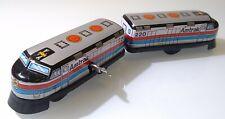 Vintage AMTRAK TRAIN Windup Tin Toy & Plastic Old Sanko 70´s? JAPAN RARE