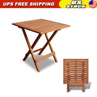Outdoor Folding Square Coffee Side Table Acacia Wood Patio Deck Garden Durable