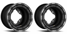 "DWT G3 Black Rear Beadlock Rims Wheels 9"" 4/115 YFZ450 YFZ450R Raptor 700 250"