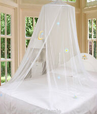 White Good Night Bed Canopy Mosquito Netting with Hook New by Creative Linens