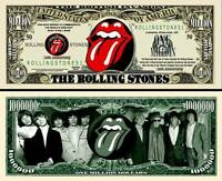 ROLLING STONES BILLET MILLION DOLLAR US ! Collection Mick Jagger Keith Richards
