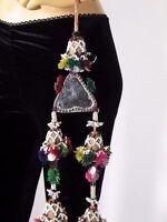 Handmade Kuchi Vintage Mirror Dress Tassel Bracelet