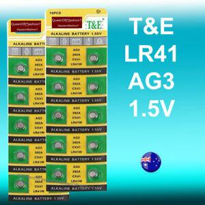 20 x LR41 QueenOf7 TE 192/AG3/392 Battery 1.5V Alkaline Button Cell TE
