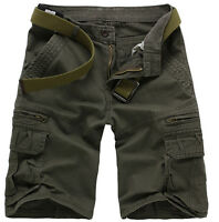 New Fashion Summer Combat Mens Casual Work Short Pant Army Cargo Shorts Trousers