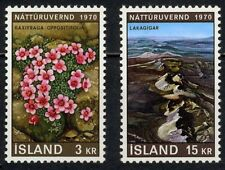 Iceland 1970 MNH 2v, Nature Conservation, Flowers, Environment