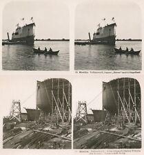 10 Stereofotos von STETTIN Szczecin u. Werft 1900, Polen - Poland