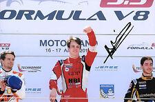 Aurelein Panis SIGNED  Victory Portrait Formula 3.5 V8 , Aragon Motorland 2016