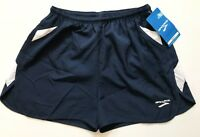 "Brooks Men's Running Shorts Size Large Navy Blue White 3"" Inseam Lined Flyaway"