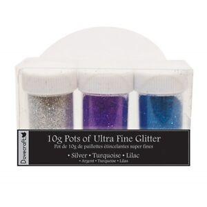 Dovecraft Ultra Fine Glitter 3 pots 10g - Blue Pink White