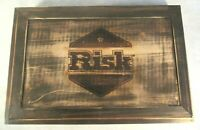 Risk Board Game Exclusive Rustic Wooden Box Wood Strategy Conquest New Open Box