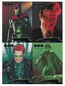1995 Batman Forever Fleer Ultra trading cards Over size PROMO Card sheet.