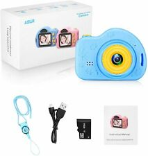 Digital Camera for Kids Photo Video Rechargeable 16GB SD Card Blue NEW
