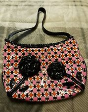 Vera Bradley Frill Collection Coming Up Roses Loves Me Purse Retired