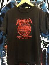 Metallica Iowa Des Moines Oct 26 2008 tour tshirt rare oop vintage metal