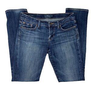 Lucky Brand Womens Sweet Straight Leg Mid Rise Blue Denim Jeans Size 26R
