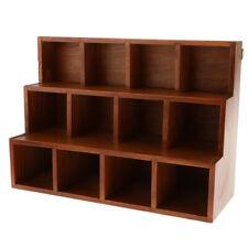 3 Layer 12 Box Wall Floating Shelf Bookshelf CD Jewelry Bonsai Display Brown