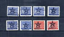 WWII CZECHOSLOVAKIA 1945 RED ARMY OVERPRINTS 8 GERMAN ISSUED BOHEMIA & MORAVIA