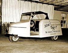 "1948 Thrif-T Three Wheel Car Vintage Old Photo 8.5"" x 11"" Reprint"