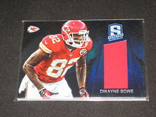 DWAYNE BOWE CHIEFS LEGEND AUTHENTIC EVENT GAME USED JERSEY CARD #/99
