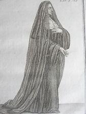 URSULINE CONGREGATION BORDEAUX ordre religieux GRAVURE  F.DUFLOS XVIIIéme