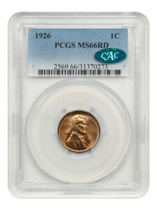 1926 1c PCGS/CAC MS66 RD - Lincoln Cent - Gorgeous Gem