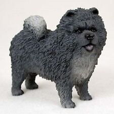 CHOW CHOW Dog HAND PAINTED FIGURINE Statue Collectible BLUE Puppy NEW resin