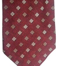 "Hart, Shaffner & Marx Men's Linen/Silk Tie 59.5"" X 4"" Multi-Color Geometric"