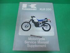 KAWASAKI klr250 klr 250 manuale officina supplement owner's service manual kl250
