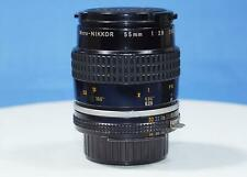 Nikon Nikkor 55 mm f/2.8 Micro Ai-s manual focus lens caps