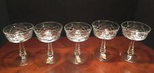 Stunning Irish Cut Crystal Champagne Glasses Set Of 5 Made In Ireland