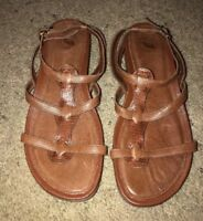 Nurture Womens Sandals Brown Leather Strappy Soft Comfortable Shoes 10 10M