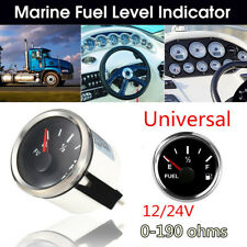Universal 52mm 12/24V 0-190Ohms Car Fuel Gauge Marine Yacht Trim Level Indicator