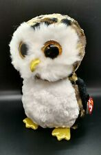 "TY Beanie Boos Sparkle Eyes OWLIVER  Owl 6"" Plush Stuffed Animal Toy"