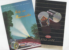 2 X VINTAGE MOTORCYCLE / CAR / LORRY / TRUCK ADVERTS - PISTONS & CABLES 1948