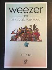 Weezer Live At Amoeba Hollywood Poster/Print 11.17.17 Amoeba Records 11�x17�