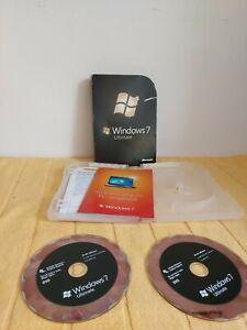 Microsoft Windows 7 Ultimate X2 CD's 32bit 64bit Original Product Key Included