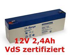 P. LC-R122R2PG PD 12V 2,2Ah Akku Ersatzakku 12Volt 2,4Ah Wartungsfrei VdS