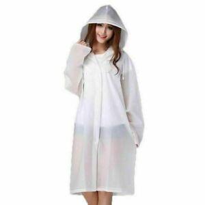 Raincoat Transparent Clear See Through Rain Coat Outdoor Waterproof Coat Cover