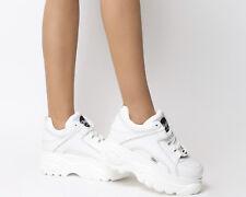 Womens Buffalo Buffalo Classic Low Sneakers White Trainers Shoes