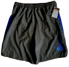 """NWT! NIKE 9"""" Dri-Fit CHALLENGER Shorts GREY Men's Size L Lined RUNNING Trunks"""