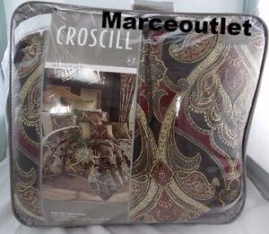 Croscill Home Bradney 4 Piece QUEEN Comforter Set Brown / Red