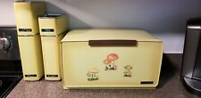 VINTAGE METAL LINCOLN BEAUTYWARE CANNISTER SET MATCHING BREADBOX