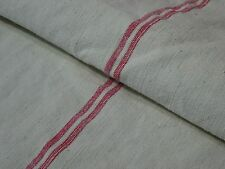 Antique European Feed Sack GRAIN SACK Red Stripe # 8203
