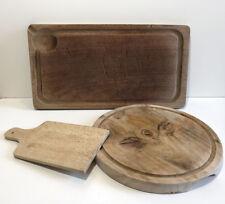 Ancienne Planche à Découper cuisine boucher vieux métier art populaire LOT de 3