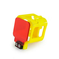 Underwater Protective Housing Case Frame w/ red Filter for Gopro Hero 4-yellow