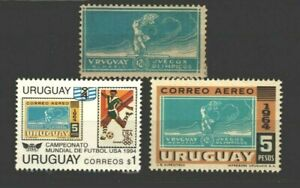1924 Soccer Football Olympic Triumph Uruguay #284 stamp on stamps