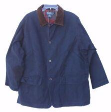 Polo Ralph Lauren Mens Large Blue Cotton Button Jacket Brown Corduroy Collar