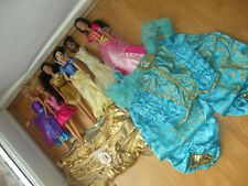 DISNEY JASMINE & Pocahontas Costume Vestito con BIANCANEVE TIANA Bambole Barbie